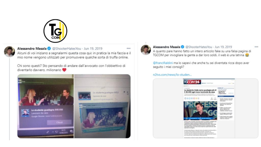 Lo youtuber Alessandro Masala ha denunciato via Twitter la truffa di Bitcoin che lo ha visto direttamente coinvolto.