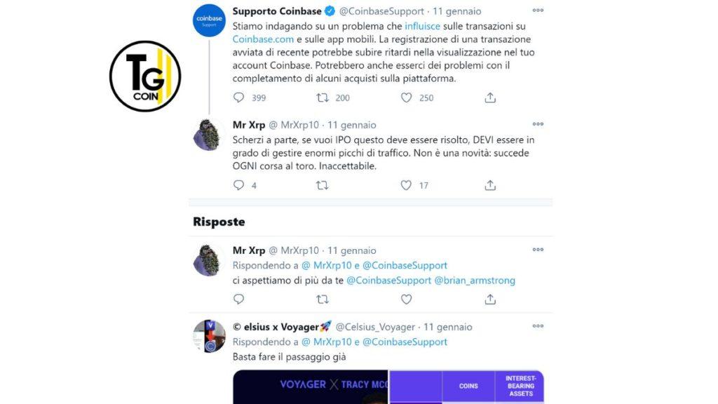 Non è la prima volta che gli utenti si lamentano di Coinbase per il suo disservizio.