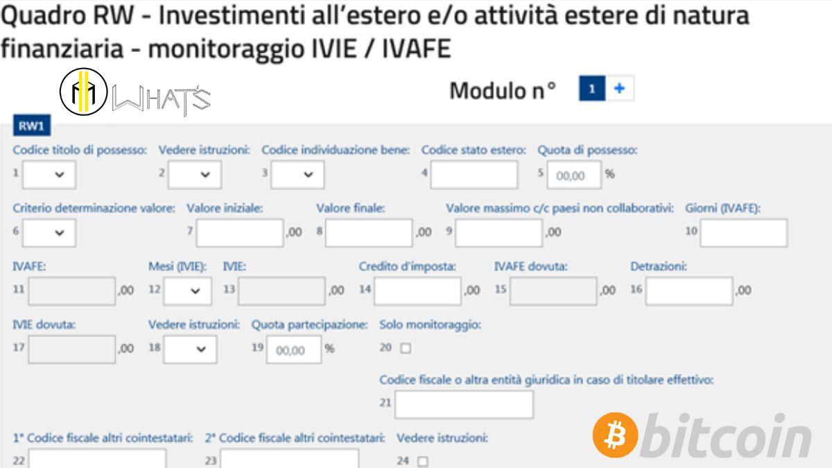 Come compilare quadro RW bitcoin Modo veloce - Mondo Crypto