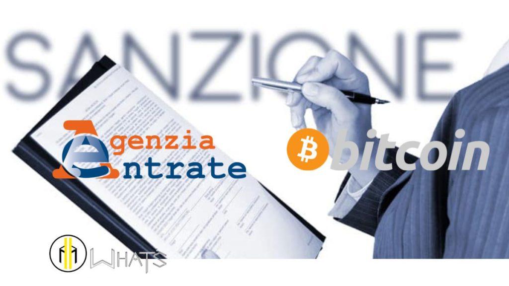 Agenzia delle entrate. Sanzioni irregolarità quadro RW bitcoin