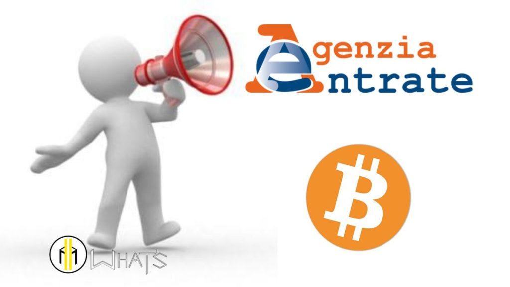 agenzia entrate ha ben chiaro le tasse su bitcoin