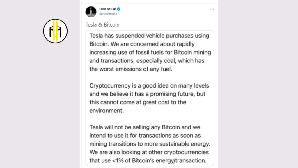 Tesla ha sospeso gli acquisti di automobili in Bitcoin. Dopo soli 49 giorni l'imprenditore sudafricano e la sua azienda fanno marcia indietro. La conferma arriva direttamente da un tweet di Musk