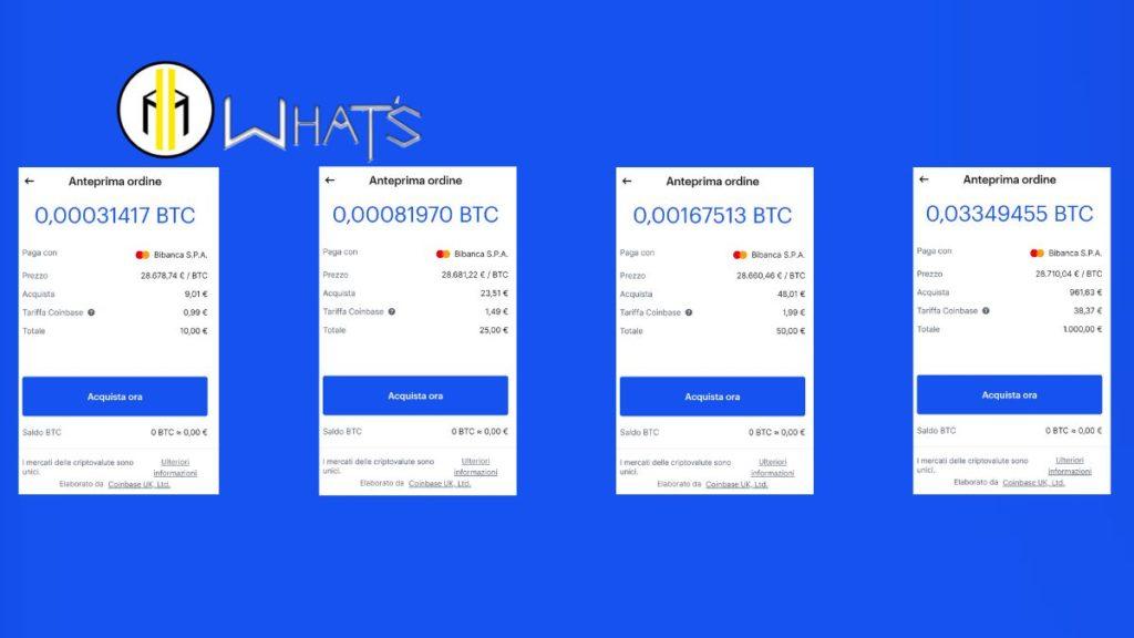 Come acquistare Bitcoin su Coinbase