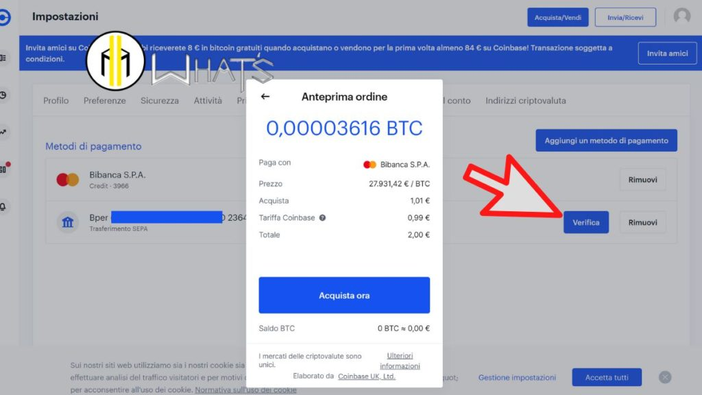 acquista ora bitcoin