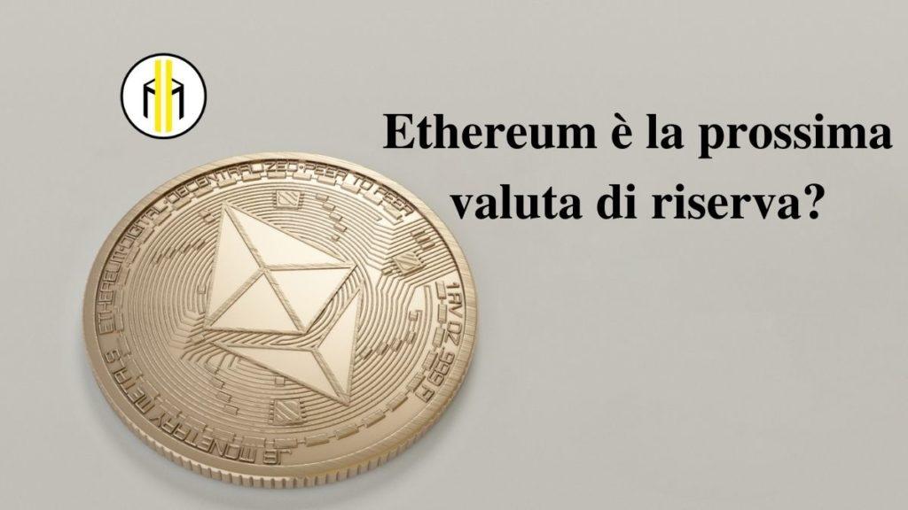 Goldman Sachs afferma che Ethereum potrebbe ben presto diventare la nuova riserva di valore. In questo modo supera Bitcoin.